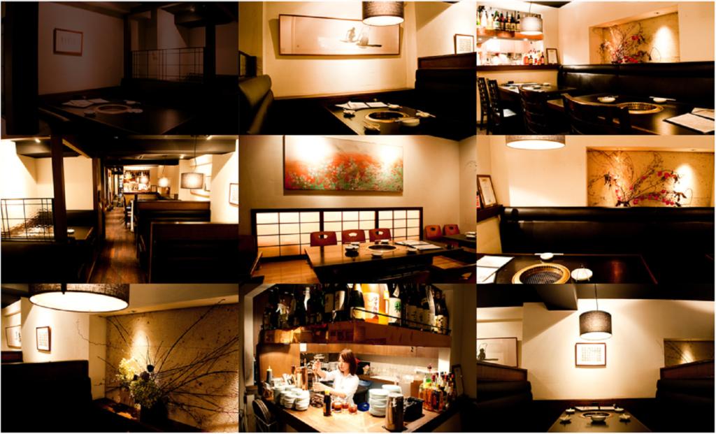 代々木上原の焼肉店「まんぷく」の内装写真