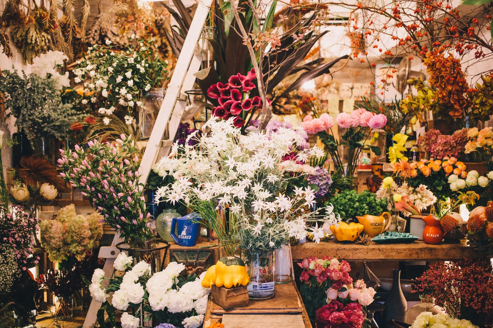 代々木上原の花屋 ムギハナ 店内の様子