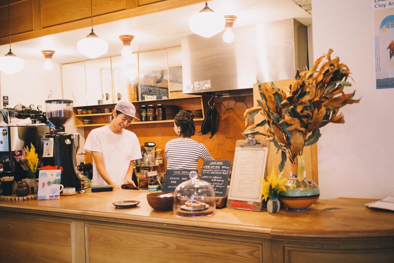 パドラーズコーヒー 店内カウンター