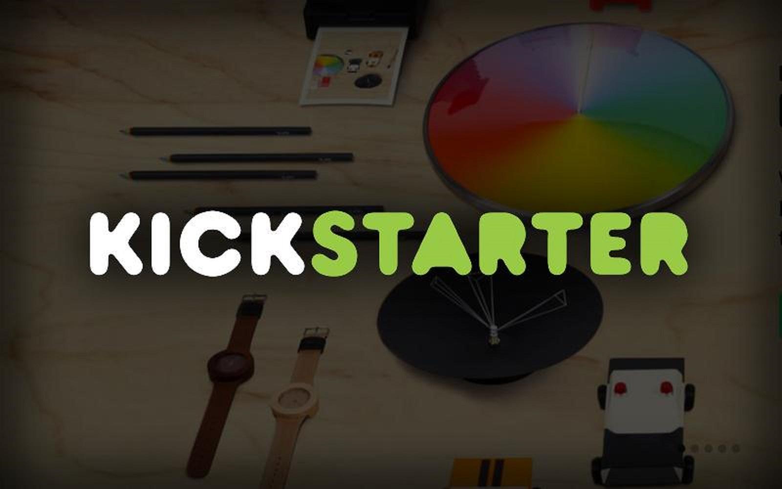 クラウドファンディング「Kickstarter」のロゴ写真