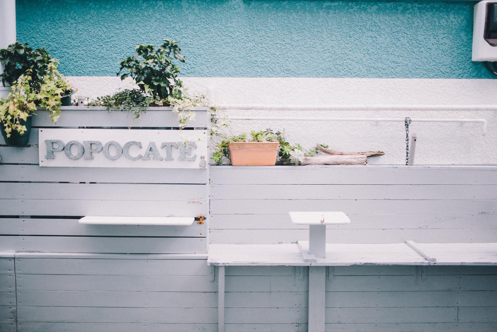プリン好きが集ってできた、手作りプリンの専門店「POPOCATE」ベンチ