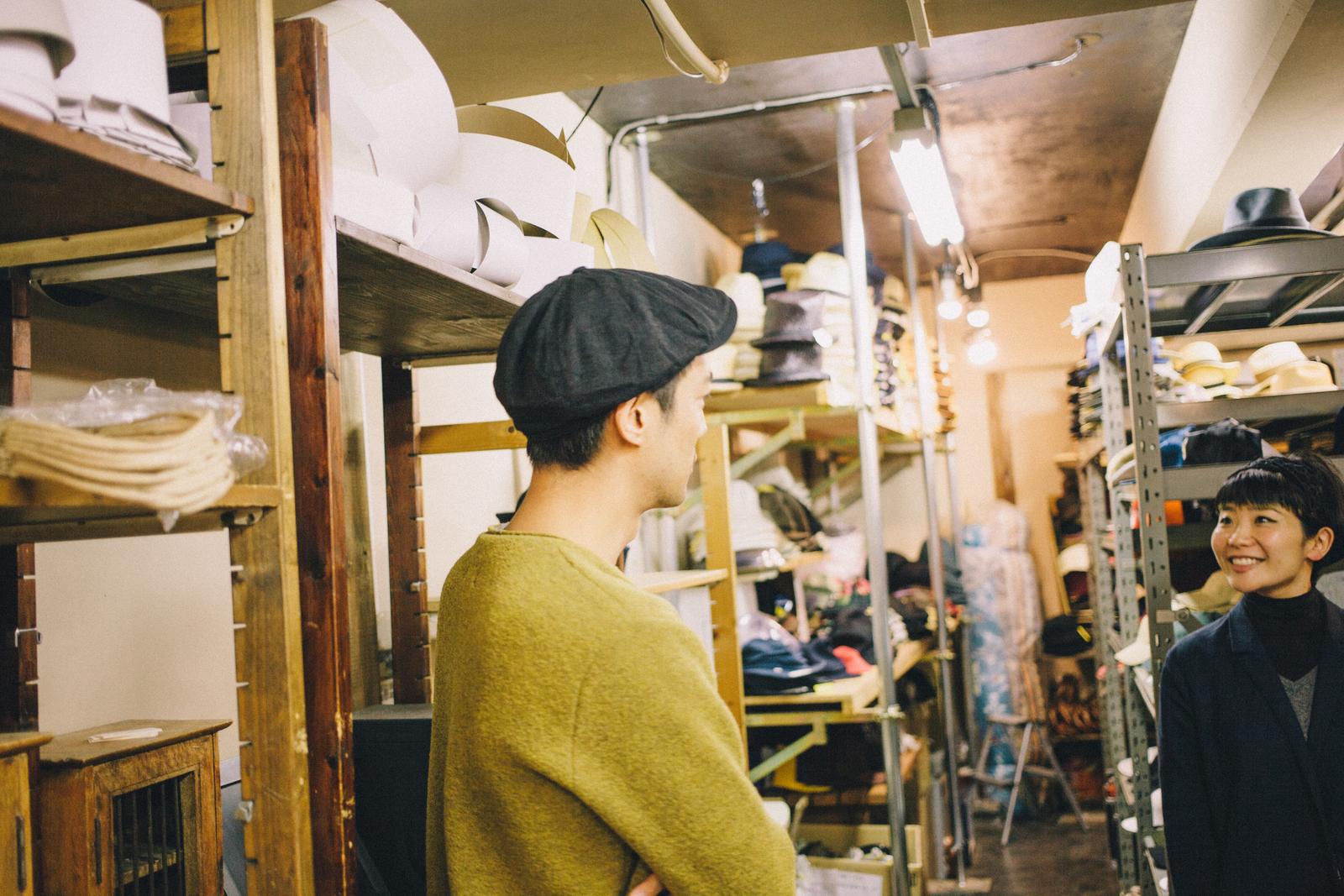 代々木上原の帽子屋 スタジオトムス 嵐 二宮和也さんがかぶった帽子