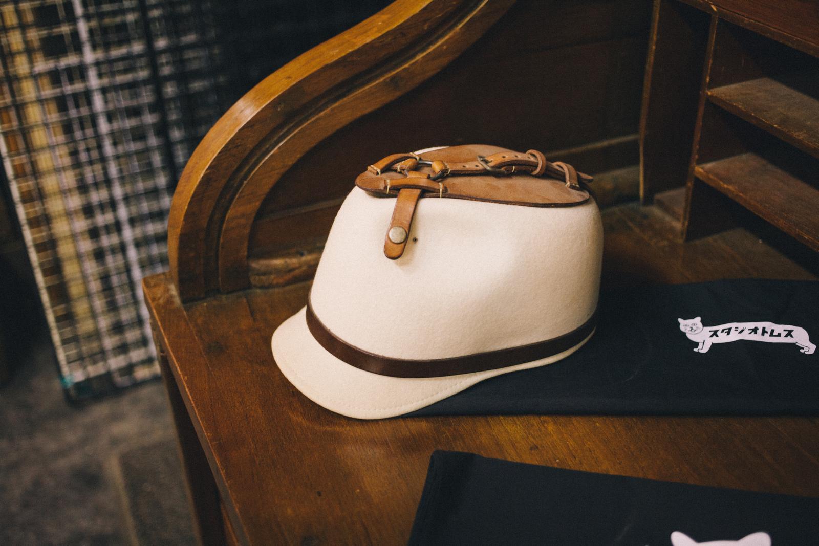 代々木上原の帽子屋 スタジオトムス 淺野さんがつくった帽子