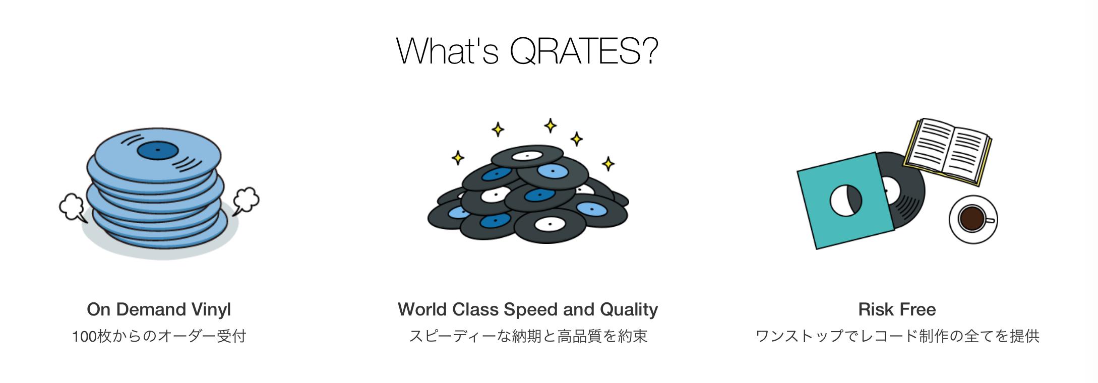レコード制作サービス QRATES