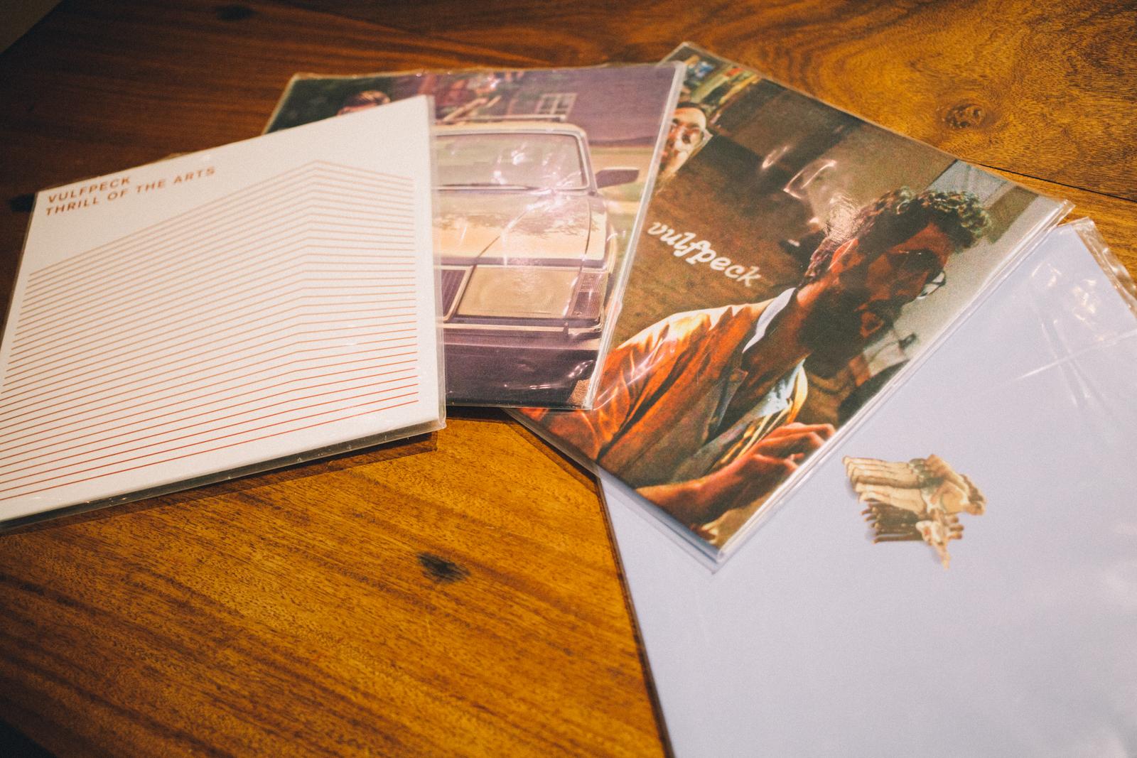 代々木上原 QRATES を利用して制作されたVULFPECKのレコード