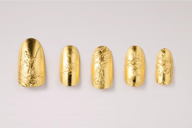 広島にある100年以上続く金箔の会社 歴清社とネイルアーティストHana4コラボレーション