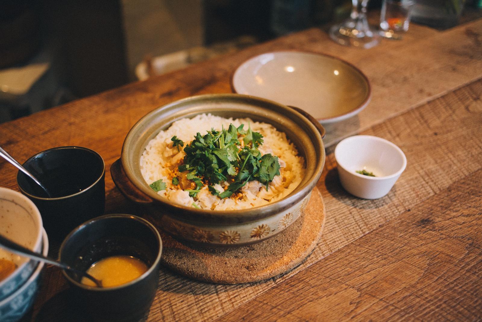 代々木上原 tanadiner タナダイナー タイ料理 蒸し鶏土鍋ご飯